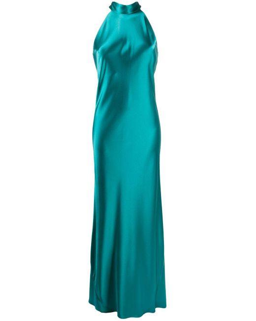Galvan Sienna サテンドレス Blue