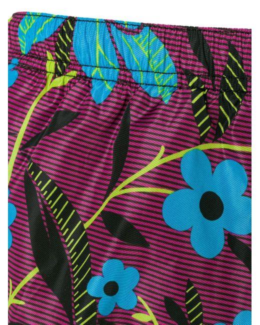 Prada Men's Pink Floral Swim Shorts