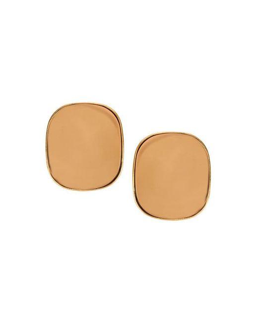 Oscar de la Renta - Metallic Geometric Earrings - Lyst