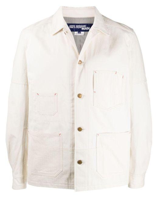 メンズ Junya Watanabe マルチポケット ミリタリージャケット White