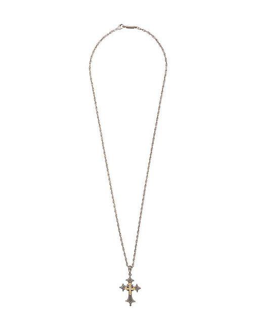 Roman Paul - Metallic Cross Necklace for Men - Lyst
