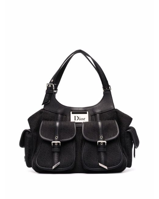 Dior 2005 プレオウンド ディオリッシモ ハンドバッグ Black