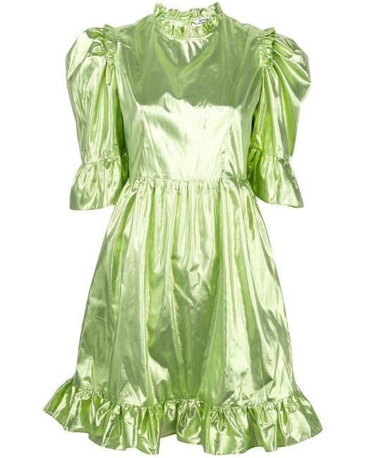 BATSHEVA フレアスリーブ ドレス Green