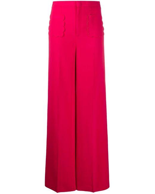 RED Valentino ハイウエストパンツ Pink