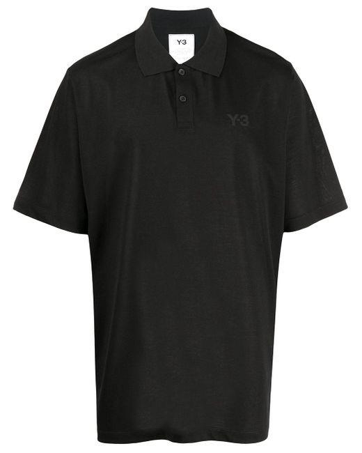 メンズ Y-3 オーバーサイズ ポロシャツ Black