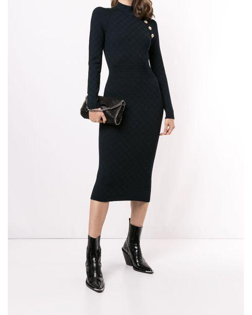 Balmain デコラティブボタン ドレス Blue