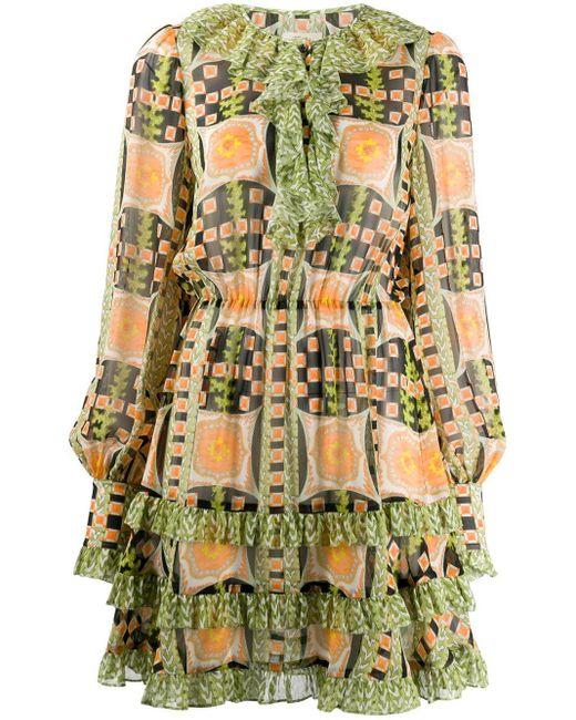 Temperley London プリント ドレス Orange