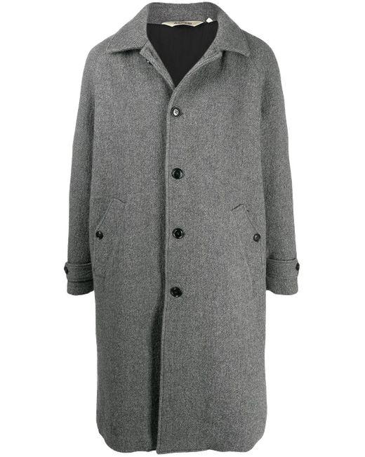 メンズ Aspesi シングルコート Gray