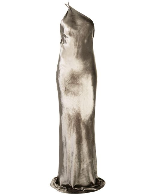 Michelle Mason カウルバック ドレス Metallic