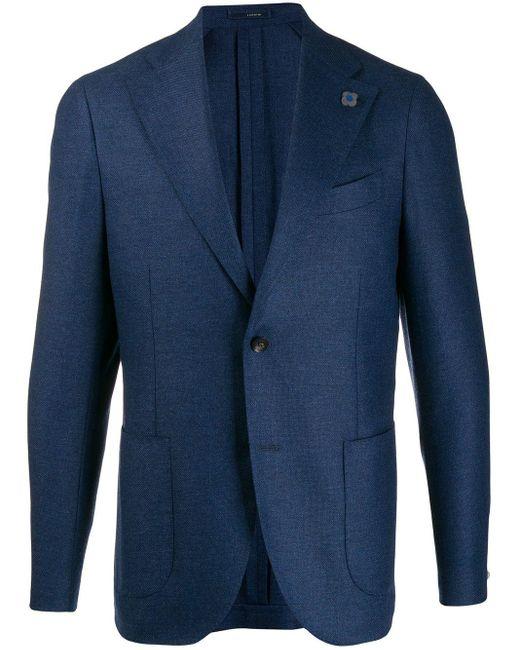 メンズ Lardini テーラード ジャケット Blue