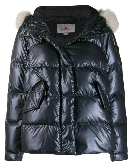 Peuterey Blue Hooded Puffer Jacket