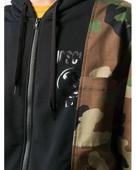 Куртка Со Вставками И Камуфляжным Принтом Moschino для него, цвет: Green