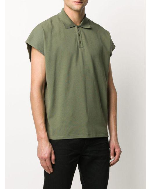 メンズ Saint Laurent ボックスシルエット ポロシャツ Green