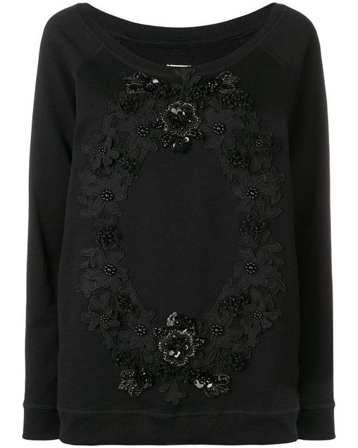 Antonio Marras - Black Floral Embroidered Jumper - Lyst