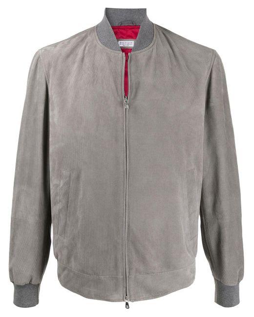 メンズ Brunello Cucinelli ボンバージャケット Gray