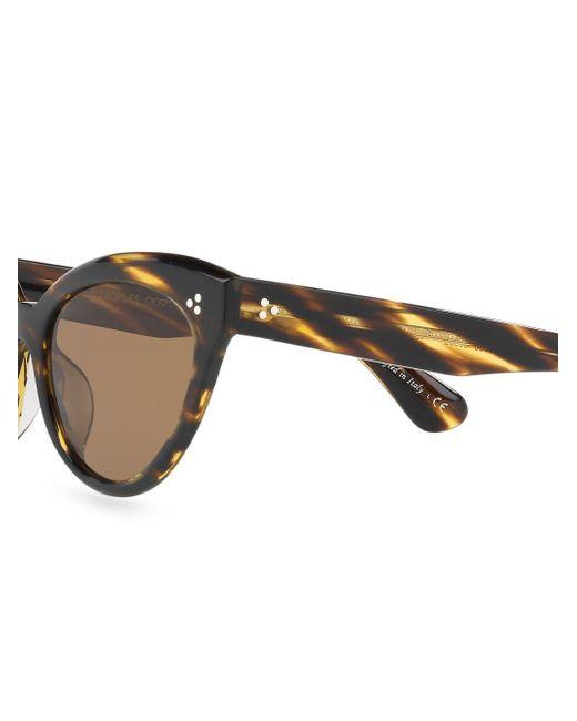 Gafas de sol Roella con montura cat eye Oliver Peoples de color Brown