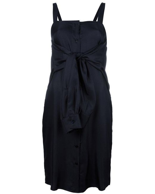 Maison Margiela   Blue Tie Front Fitted Dress   Lyst