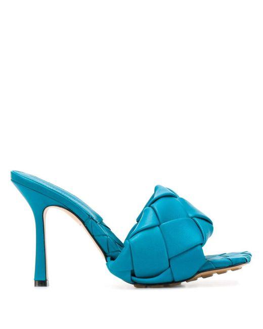 Bottega Veneta イントレチャート サンダル Blue