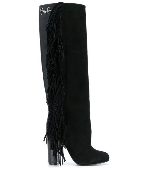 Philipp Plein Black High Signature Boots