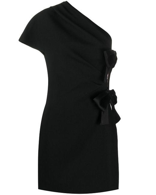 Платье Мини С Бантами Saint Laurent, цвет: Black