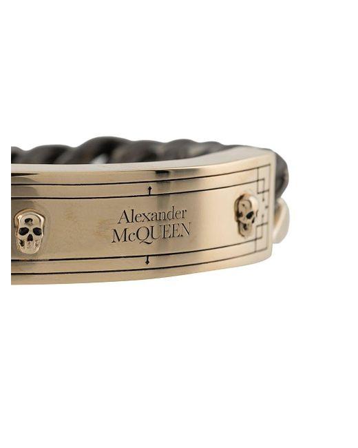 メンズ Alexander McQueen チェーンブレスレット Metallic