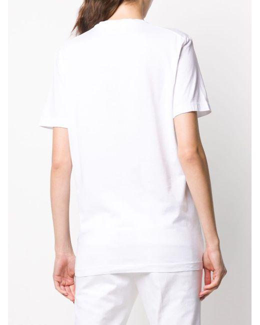 T-shirt à imprimé graphique DSquared² en coloris White
