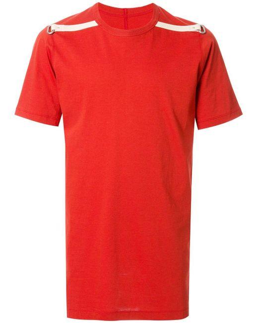 メンズ Rick Owens Level Tシャツ Red