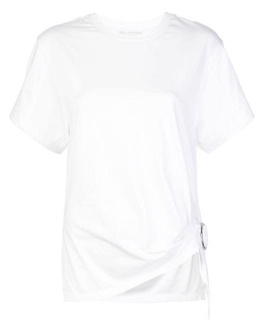 3.1 Phillip Lim Camiseta fruncida con anilla de mujer de color blanco lnYIo