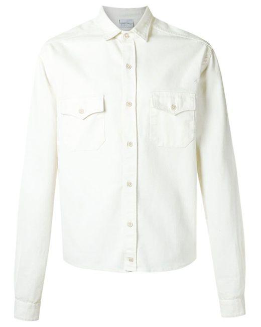 メンズ Amir Slama フラップポケット シャツ White