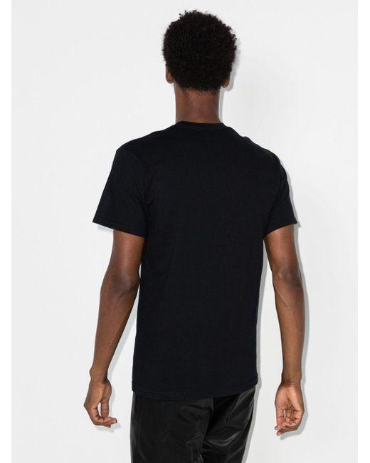 メンズ Mowalola スローガン Tシャツ Black