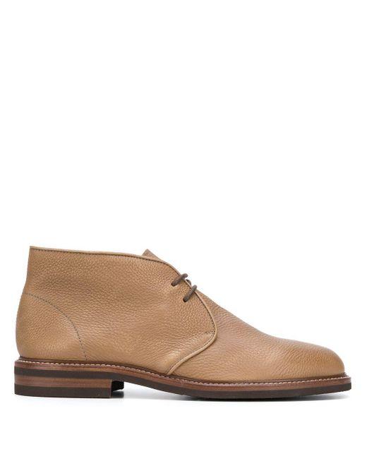 Ботинки Дезерты С Эффектом Кракле Brunello Cucinelli для него, цвет: Brown