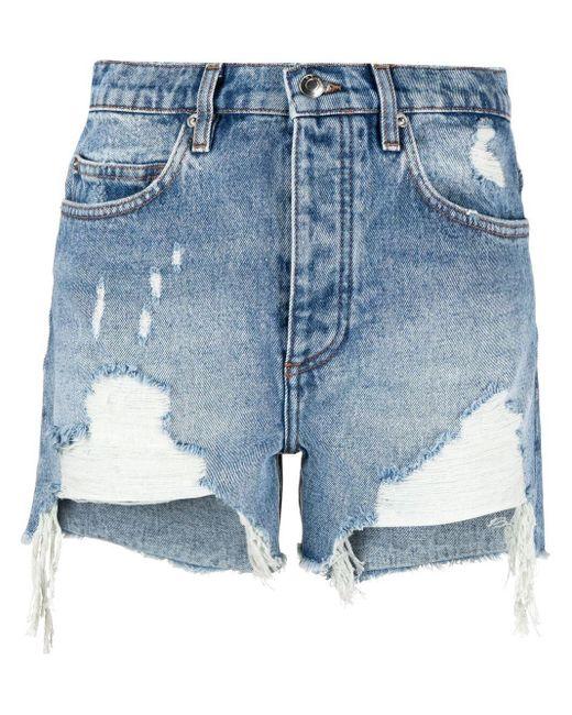 Pantalones vaqueros cortos sin rematar IRO de color Blue