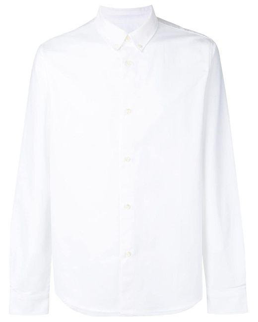 メンズ A.P.C. ボタンダウンシャツ White