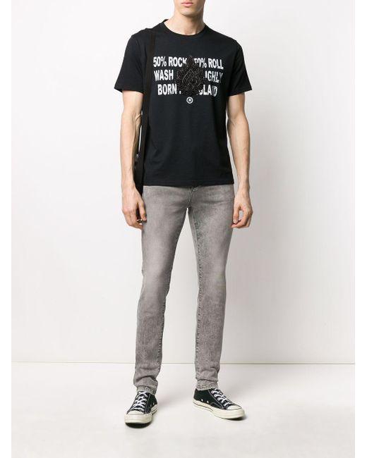 メンズ John Richmond ビーズディテール Tシャツ Black