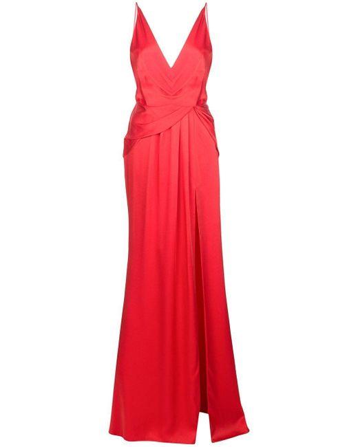 Jason Wu ギャザー ドレス Red