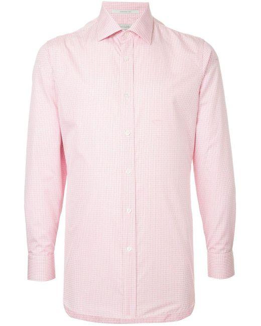 メンズ Gieves & Hawkes チェック シャツ Pink