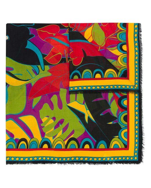LaDoubleJ Green Schal mit Pflanzen-Print