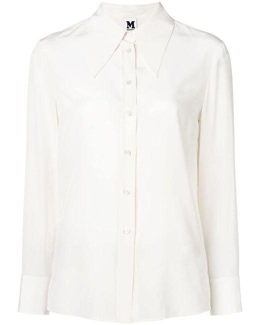 M Missoni - White Pointed Collar Shirt - Lyst