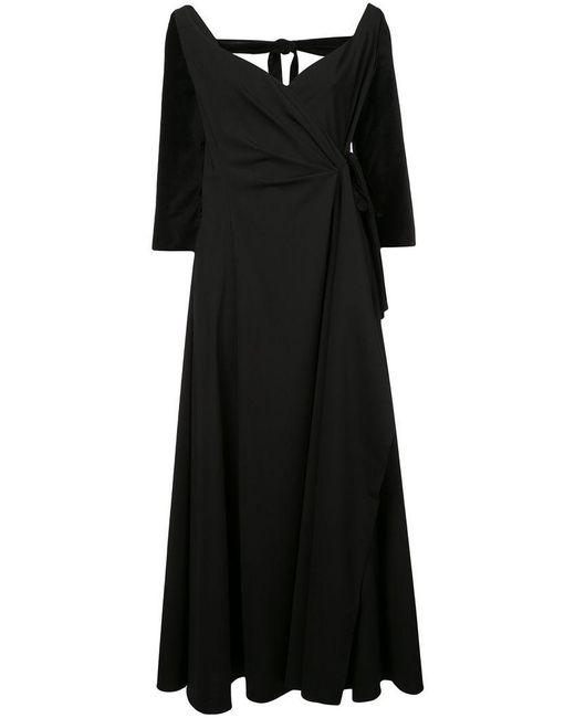 Rosie Assoulin - Black Side Tie Maxi Dress - Lyst