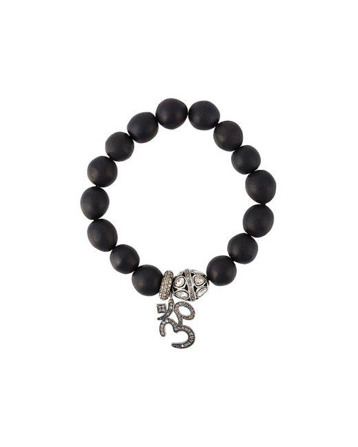 Gemco Black Diamond Charm Bead Bracelet