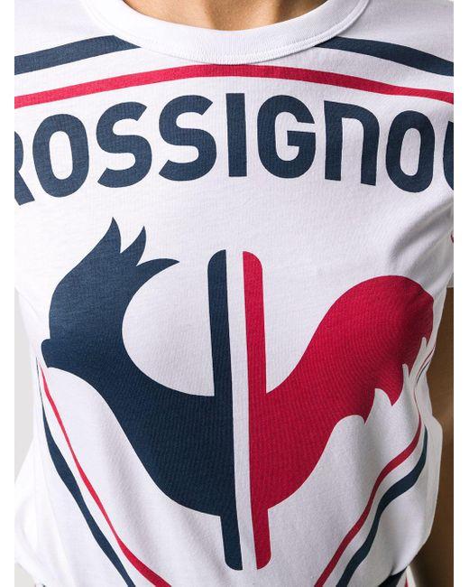 Rossignol オーバーサイズ ロゴ Tシャツ White