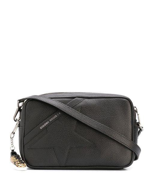 Golden Goose Deluxe Brand Black Signature Star-patch Logo Shoulder Bag