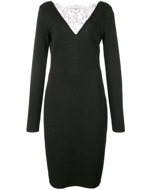 Givenchy レースディテール ドレス Black