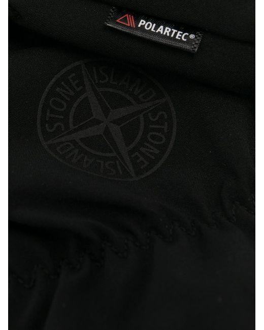 Stone Island ロゴパッチ 手袋 Black