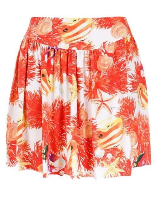 Isolda Corais Skirt Red