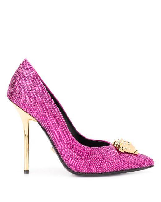 Versace メデューサ パンプス Pink