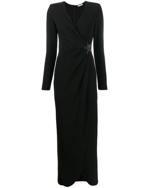 P.A.R.O.S.H. Black Kleid mit Kristallen