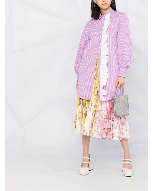 MSGM ラッフル シャツドレス Purple