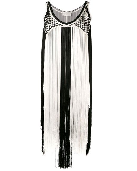 Alberta Ferretti バイカラー ドレス Black