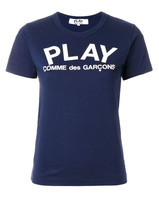 COMME DES GARÇONS PLAY ロゴプリント Tシャツ Blue